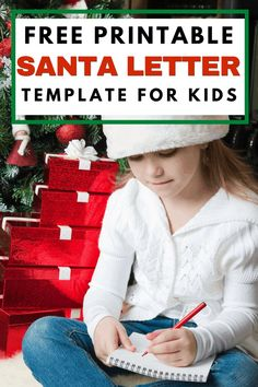 Fun Free Printable Santa Letter Template for Kids! Kids can use this cute Santa letter template to send Santa their wish list this year! It's a free printable Santa letter that makes it easy and fun to send Santa a wishlist. Plus learn how you can send their later to the North Pole AND get a response! #santaletter #santalettertemplate #santaletterprintable #Christmas #lettertosanta Letter Template For Kids, Free Printable Santa Letters, Santa Template, Letter Templates, Free Printables, Christmas Crafts For Kids, Family Christmas, Christmas Decorations, Christmas Traditions
