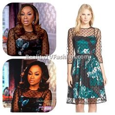 #PhaedraParks' Green Floral Polka Dot Dress #RHOA