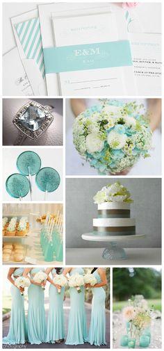 Aquamarine Wedding Inspiration #aquamarine #weddinginspiration Find the invites here - http://www.shineweddinginvitations.com/blog/wedding-invitations-monogram-aquamarine/