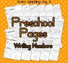 Number Writing Practice Pages = there are a lot of free downloads on this site.