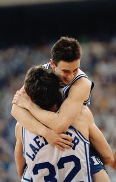 Christian Laettner and Bobby Hurley