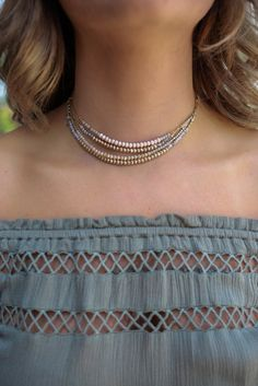 Beaded Layered Necklace - UOI Online Clothing Boutique