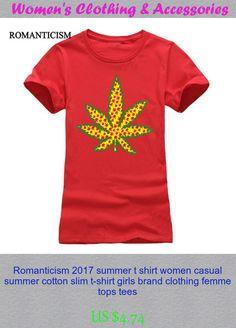 Romanticism 2017 summer t shirt women casual summer cotton slim t-shirt girls brand clothing femme tops tees