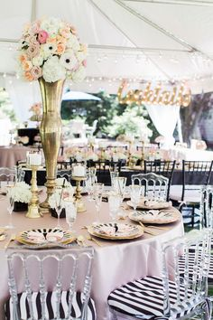Oh-So-Cute Kate Spade Bridal Shower & simple but colorful family-style wedding table setting   wedding ...