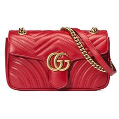 Gucci Red Gg Marmont Quilted Shoulder Bag ($1,890) ❤ liked on Polyvore featuring bags, handbags, shoulder bags, red, red purse, long strap purse, quilted purses, chain strap purse and gold shoulder bag - Sale! Up to 75% OFF! Shop at Stylizio for women's and men's designer handbags, luxury sunglasses, watches, jewelry, purses, wallets, clothes, underwear & more!