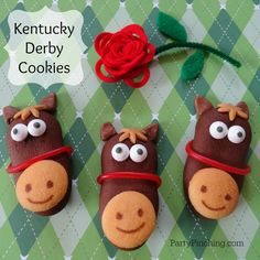 Having a Kentucky Derby party? These cutie patootie cookies are a sure bet! I made them from Pepperidge Farm Dark Chocolate Milano Melts, Mini Nilla Wafers, licorice ropes, tootsie rolls for ears, and caramel for the mane (cut with a mini daisy cookie cutter). Attach everything with melted chocolate or melted candy coating. ** The...Read More »