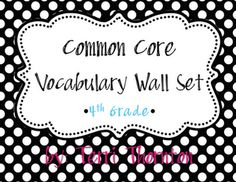 common core voc cards:  she is going to make some for all the grades