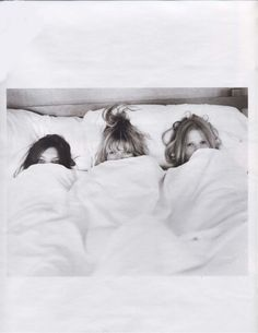 Daria Werbowy, Kate Moss and Lara Stone for W magazine. Photographed by Bruce Weber.