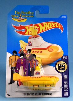 The Beatles Yellow Submarine Hot Wheels HW Screen Time From the land of submarines to the world of Hot Wheels, The Beatles' hit song - Yellow Submarine - comes to life in this harmonious new edition. It's music to our wheels! The Beatles, Hot Wheels Display, Old School Toys, Classic Car Insurance, Yellow Submarine, Hot Wheels Cars, Nightmare On Elm Street, Tin Toys, Ideas