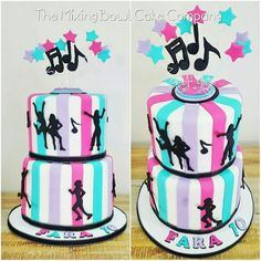 Double-decker Disco - Cake by The Mixing Bowl Cake Company