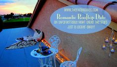 Romantic Rooftop Date- this cheap, at-home date is just a ladder away!  Time to reclaim those dating butterflies.  #dateideas #datenight #dates