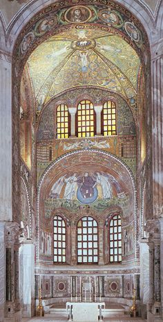Basilica of San Vitale, Ravenna, Italy  : one of the places we saw on our honeymoon but it was in early January and freezing!! still beautiful if I remember it clearly enough thru the shivers.