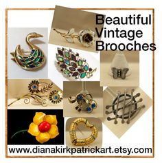 Beautiful Vintage Brooches by diana-32 on Polyvore featuring polyvore, fashion, style, vintage, clothing, vintagejewelry, teamlove and vogueream