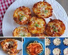 Muffin Tin Spaghetti Pies Quick Video