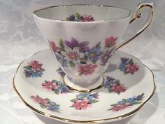 Elegant Royal Standard TEA CUP AND Saucer With Lovely Flowers Fine Bone China | eBay