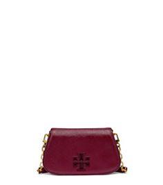 c153f1c4a593 Red Agate Tory Burch Britten Patent Mini Cross-body Designer Crossbody  Bags