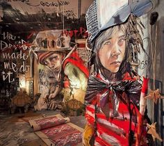 Herakut - galerie installation