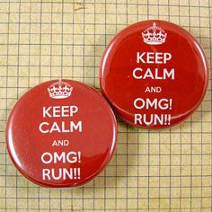 Keep Calm Pinback Button Set by XOHandworks