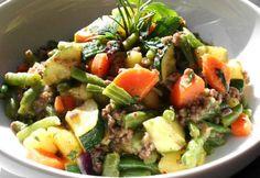 Cobb Salad, Potato Salad, Potatoes, Healthy Recipes, Healthy Food, Beef, Ethnic Recipes, Minden, Drink
