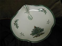 Spode Christmas Tree made in England Handle Dish Plate Candy S3324 I