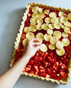 Strawberries don't have to work very hard to earn a place as one of our favorite berries of summer. They are the first to arrive, tend to be the most affordable, and really know how to work the spotlight with very little help. So when you're ready to take your fresh munching to the next level, make this slab pie dreamed up by cookbook author Yossy Arefi.