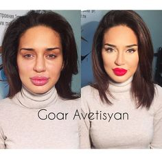 Love my workBefore and after  what do you think?)))❤️ну как вам?)))) lips (помада) от nouba millebaci n7 #Padgram