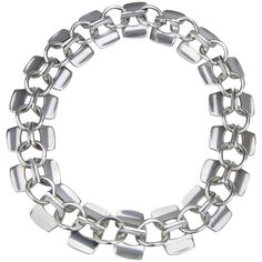 Pre-owned 1960s Pair of Swedish Silver Bracelets / Necklace ($1,650) ❤ liked on Polyvore featuring jewelry, necklaces, chain necklaces, antique silver jewelry, bracelet jewelry, antique bracelet, silver jewellery and antique necklace
