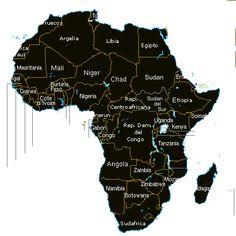 El continente africano -  un mapa interactivo