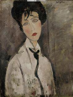 birdcagewalk: winter-se a chegar: Mulher com Black Tie Amedeo Modigliani 1917