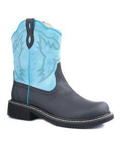 Another great find on #zulily! Blue Western Stitch Chunk Cowboy Boot - Women by Roper #zulilyfinds