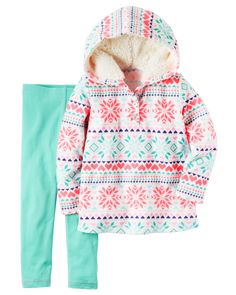 Toddler Girl 2-Piece Fleece Hoodie & Legging Set from Carters.com. Shop clothing & accessories from a trusted name in kids, toddlers, and baby clothes.