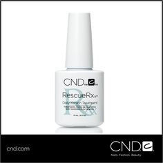 Announcing #RESCUERXX Daily Keratin Treatment! A highly effective new treatment from CND that repairs damaged nails with the power of Keratin protein and moisturizing jojoba oil. See a difference daily! www.cnd.com/RESCUERXX