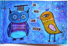 Inky Dinky Doodle: WOYWW #289: Quirky Doodle Birds