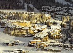 """""""Sun Peaks Village Ski Resort"""" Just 45 minutes from Kamloops, BC Ski And Snowboard, Great Places, Places To Go, Images Of Sun, Western Canada, Canada Travel, Aerial View, British Columbia"""