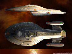 What a beautiful ship! Star Trek Fleet, Star Trek Tv, Star Trek Series, Star Trek Enterprise, Star Trek Voyager, Star Terk, Star Trek Tattoo, Star Trek Models, Starfleet Ships