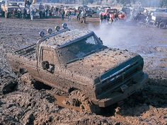 there is just something far too sexy about a muddy ole truck haha