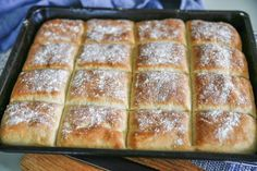 Bröd i långpanna | Fredriks fika Bread Recipes, Baking Recipes, Homemade Dinner Rolls, Our Daily Bread, Breakfast Snacks, Banana Bread, Bakery, Food And Drink, Favorite Recipes