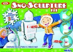 Create a robot, bunny, castle, penguin, dinosaur, polar bear or anything else your creative snow sculptor can imagine
