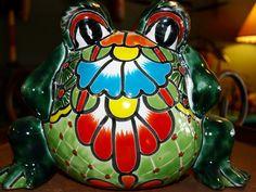 Cute Talavera frog planter  Pueblo Southwest Trading Co
