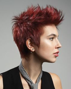 Women's Faux Hawk Short Hair