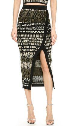 20% off Ronny Kobo - Double Knit Skirt Katya Neutral Multi Print Black - $313.60
