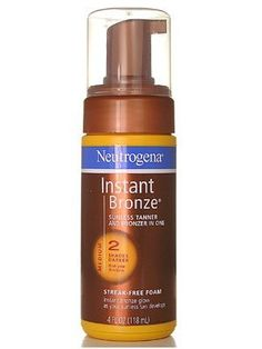 Neutrogena Instant Bronze Sunless Tanner and Bronzer In One Streak-Free Foam, Medium 118ml/4oz by Neutrogena. $49.95. It allows you to see where you have applied it, for a flawless coverage.. Get a healthy looking glow instantly with Neutrogena Sunless Tanner & bronzer in one.. The sheer bronzer provides a hint of temporary, natural looking color immediately.. Develops a natural looking golden tan-not streaky, not orange.  Non greasy formula absorbs quickly.. Neutrogena I... Beauty Skin, Health And Beauty, Golden Tan, Neutrogena, Bronzer, Glow, How To Apply, Personal Care, Skin Care