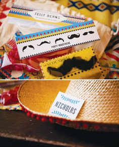 Fiesta Favors - Mustache and Sombrero... for the bride and groom hahah!