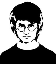 Some stencils i made of Harry Potter characters. Never tried making stecils before, was fun Harry Potter Stencil Harry Potter Portraits, Harry Potter Artwork, Harry Potter Drawings, Harry Potter Canvas, Harry Potter Painting, Harry Potter Silhouette, Harry Potter Sketch, Harry Potter Pop, Pencil Art Drawings