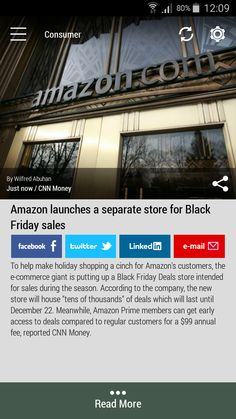 Download the FREE #Born2Invest Android app to get the full scoop and many more business news summaries. #blackfriday #amazon #consumer