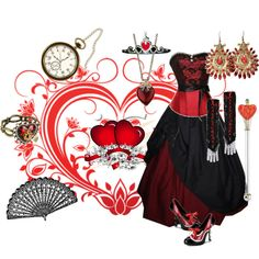 """""""steampunk queen of hearts"""" by verisimilitude9 on Polyvore"""