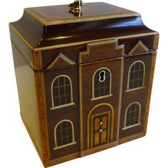 Rare English George III Architectural House Tea Caddy c.1780