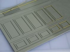 using brass rod for panelling. Macarrão spagetti