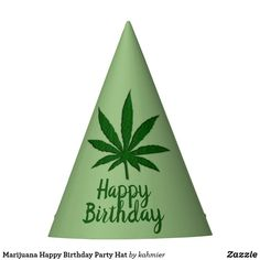 198a4ed5 Marijuana Happy Birthday Party Hat 15% off Happy Birthday Parties, Birthday  Party Hats,