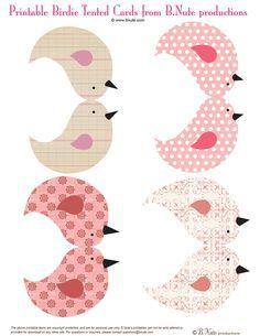 producciones bnute: Gratis para Imprimir birdies y Birdie House